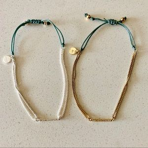 Stella & Dot Pave Crystal Wishing Bracelets